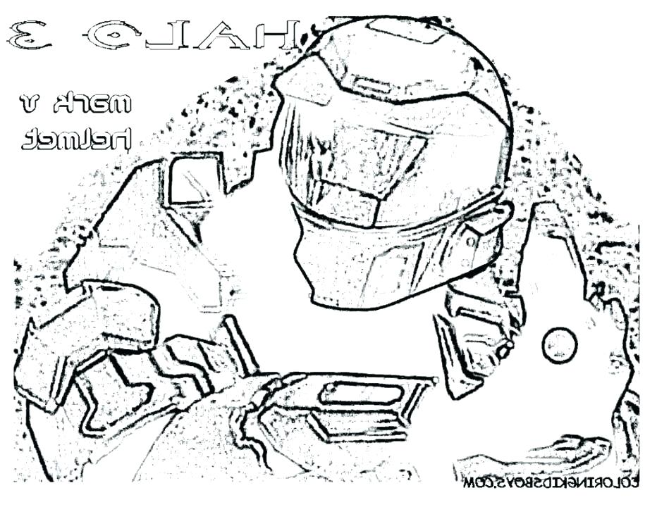 932x720 Great Master Chief Coloring Page Fee Halo Pages Printable Helmet