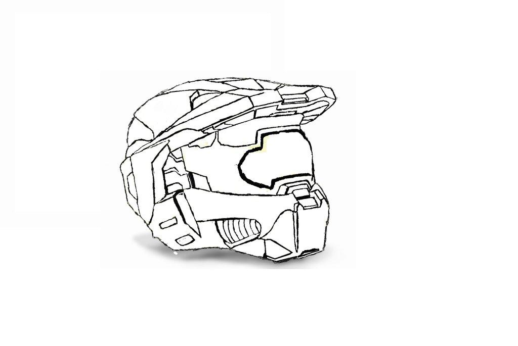 1024x685 Halo 3 Mark Vi Helmet Draw By Xdustingx