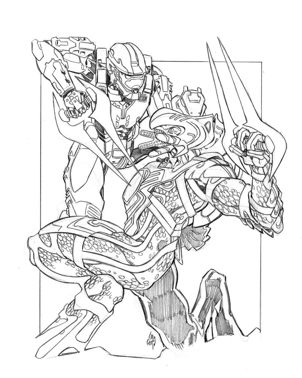 970x1214 Halo Coloring Pages