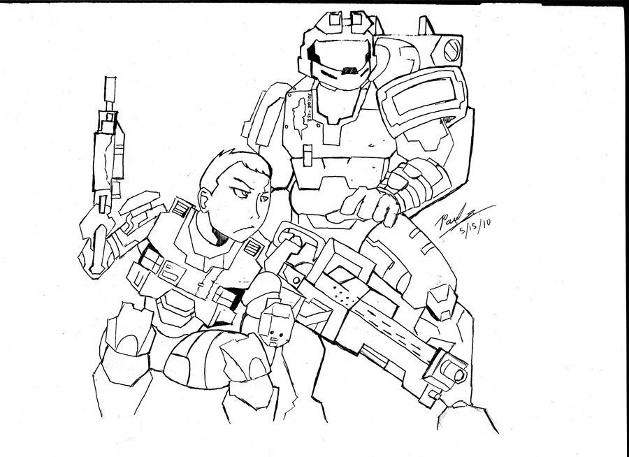 900x654 Halo Reach Kat And Jorge By Emptywaterbucket76