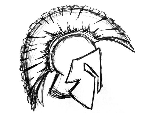 600x473 How To Draw A Spartan Helmet Step By Step