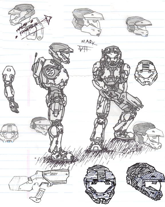 576x720 Mark Vii Halo Mjolnir Armor By Furryfan202