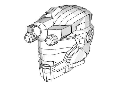 Halo Helmet Drawing at GetDrawings com   Free for personal