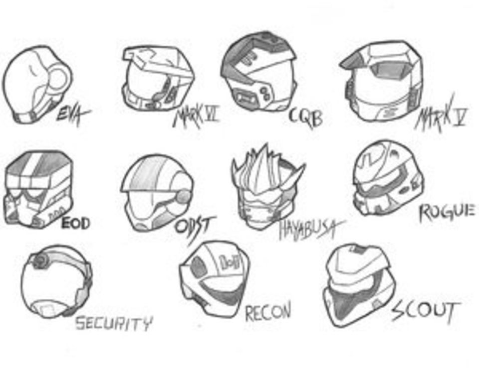 It's just a picture of Smart Halo Helmet Drawing