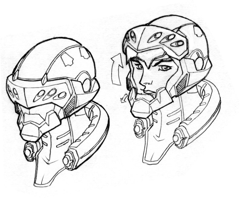 800x656 Commando Helmet Concept By Dannortonart