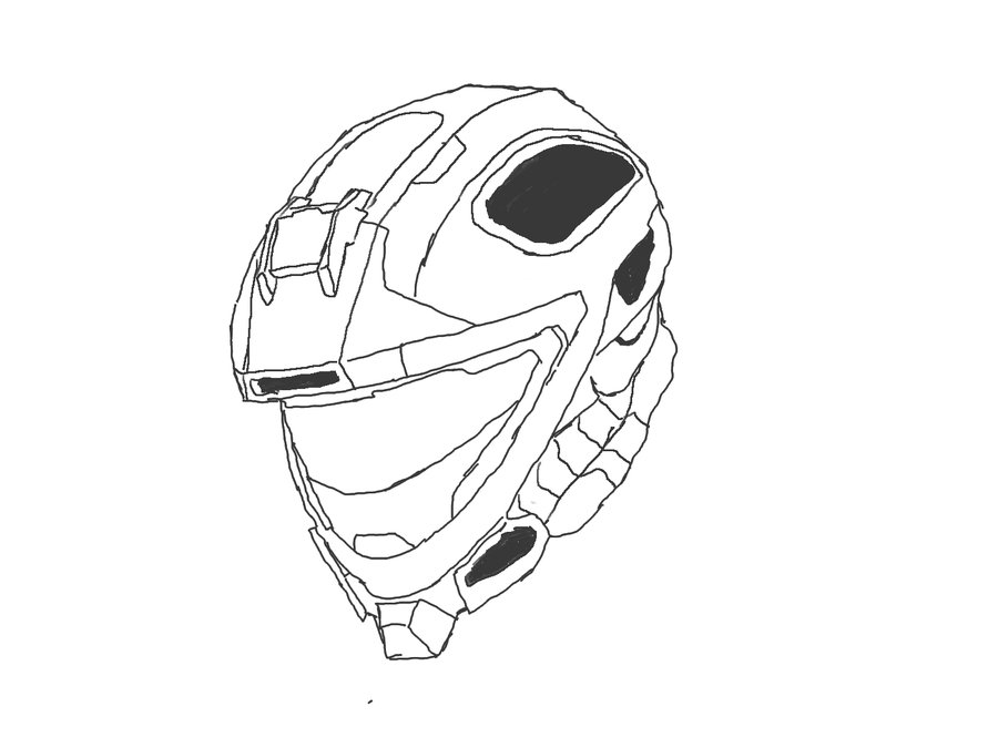 900x675 Reach Recon Helmet Lineart By Zuka Zamamee