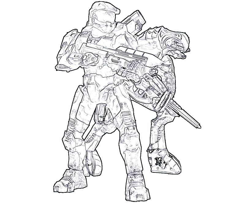 800x667 Halo Master Chief Coloring Pages Halo Master Chief Coloring Pages