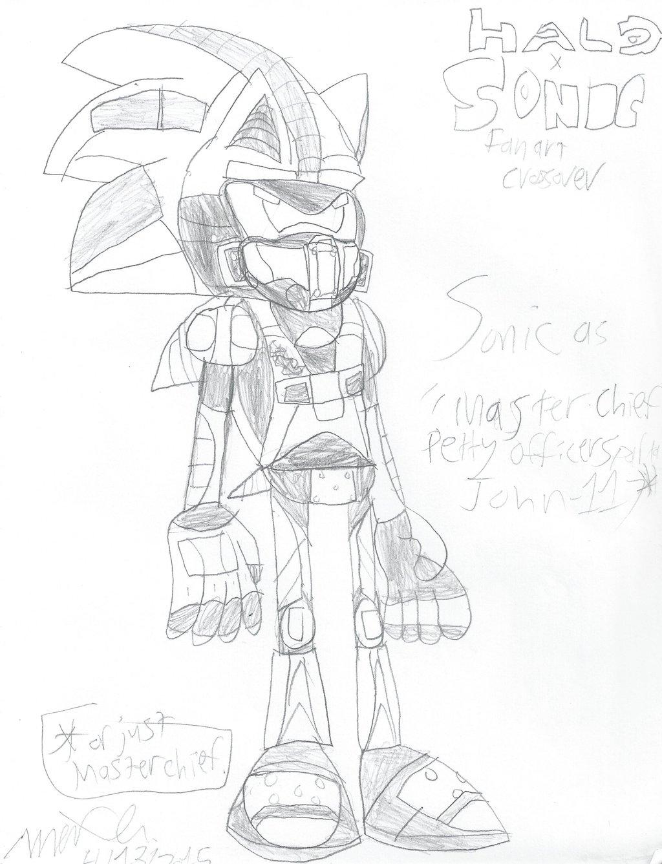 1024x1337 Halo X Sonic Sonic As Master Chief By Zeki Tak