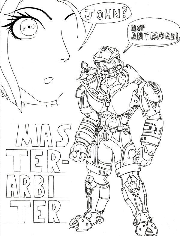 600x784 Master Arbiter No Color By Brasilianoids