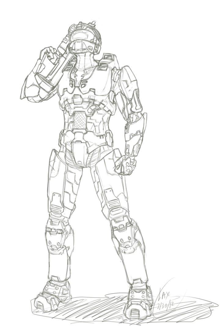 Halo Master Chief Drawing At Getdrawings