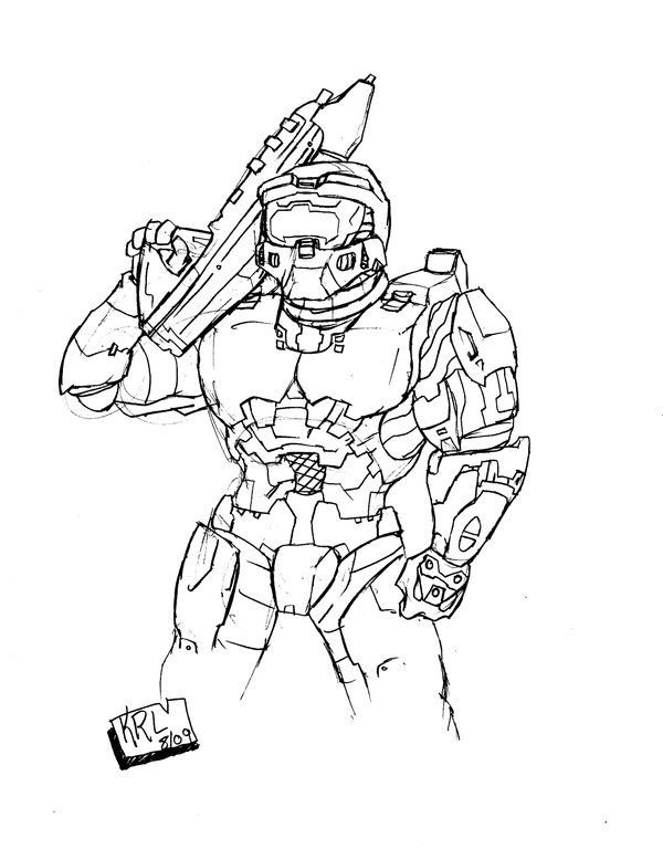 600x768 Master Chief Black And White By Kaboomantor