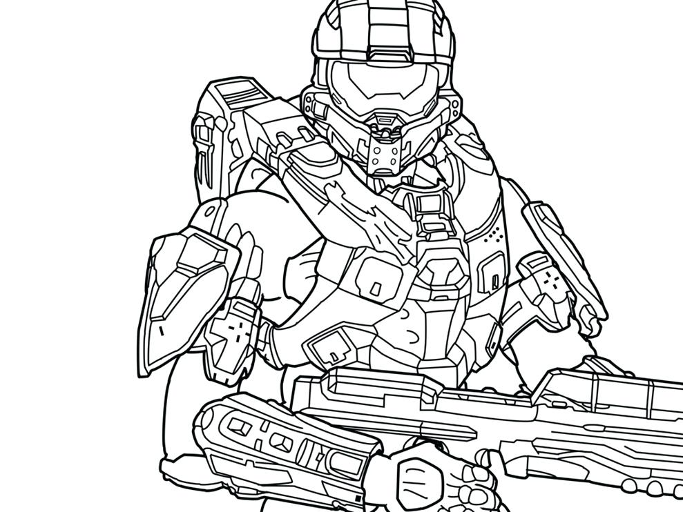 989x742 Great Master Chief Coloring Page Fee