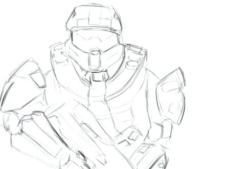 Halo Master Chief Drawing at GetDrawingscom Free for personal use