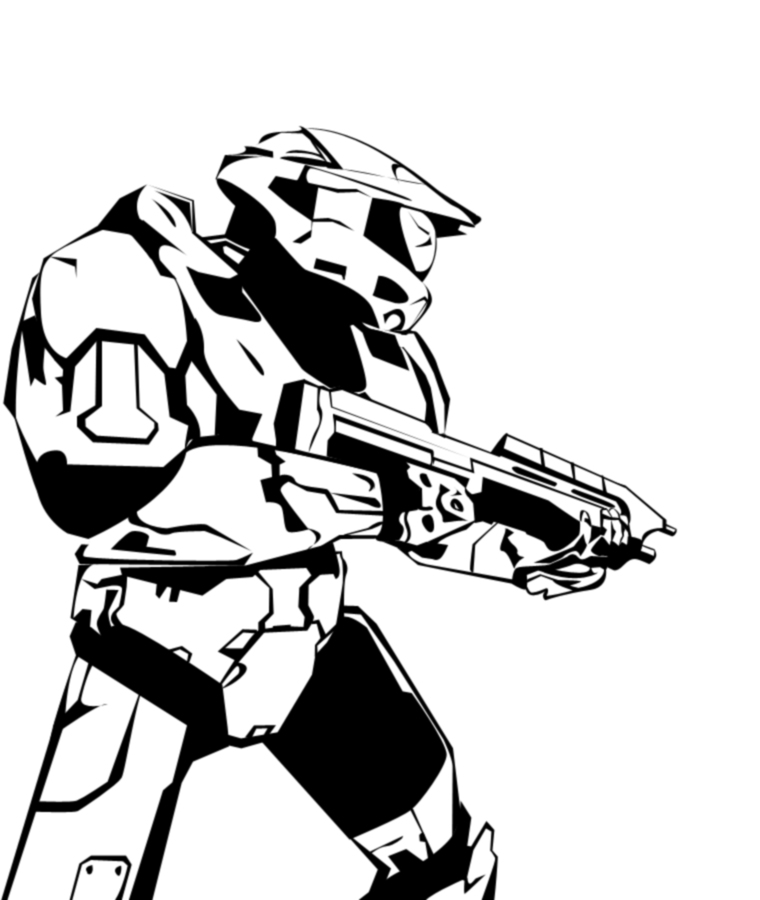 760x900 Master Chief Ink Sketch By Nate9126
