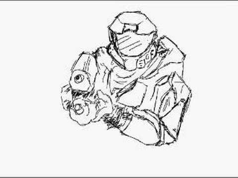 480x360 Master Chief Sketch