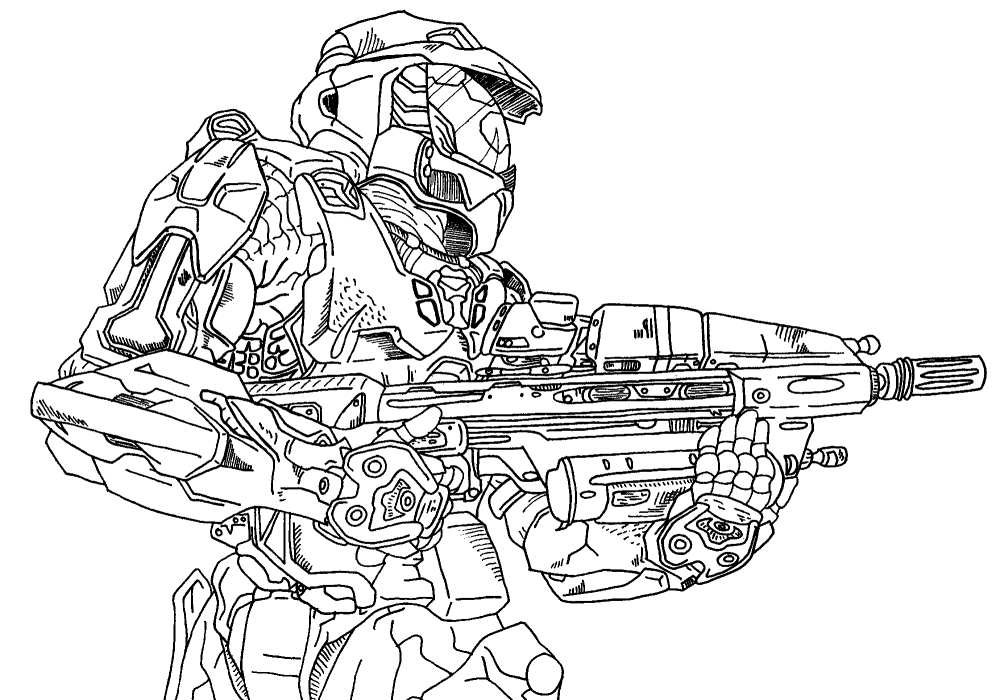 1000x700 Master Chief Lineart By Sephiroth7734