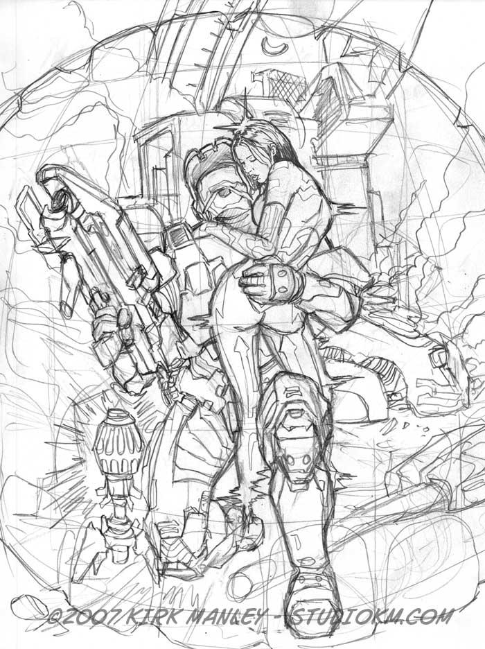 Halo Master Chief Drawing At Getdrawings Com