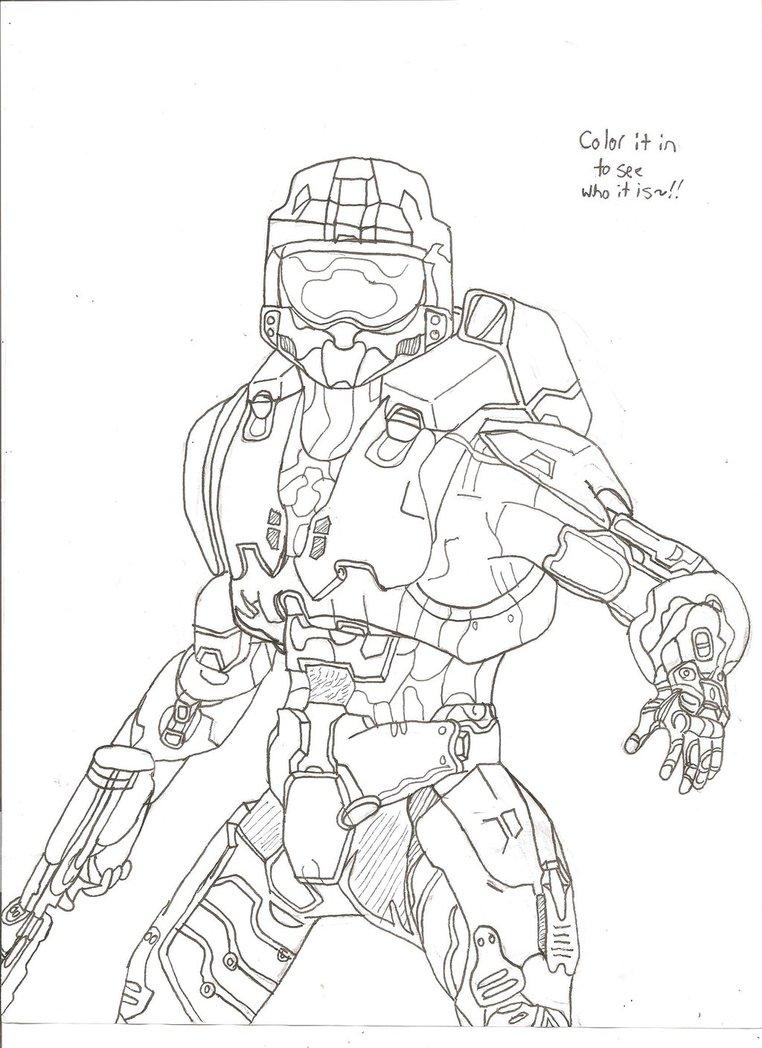 762x1048 Halo Master Chief (Color Him In!) By Unsunkenhedgehog101