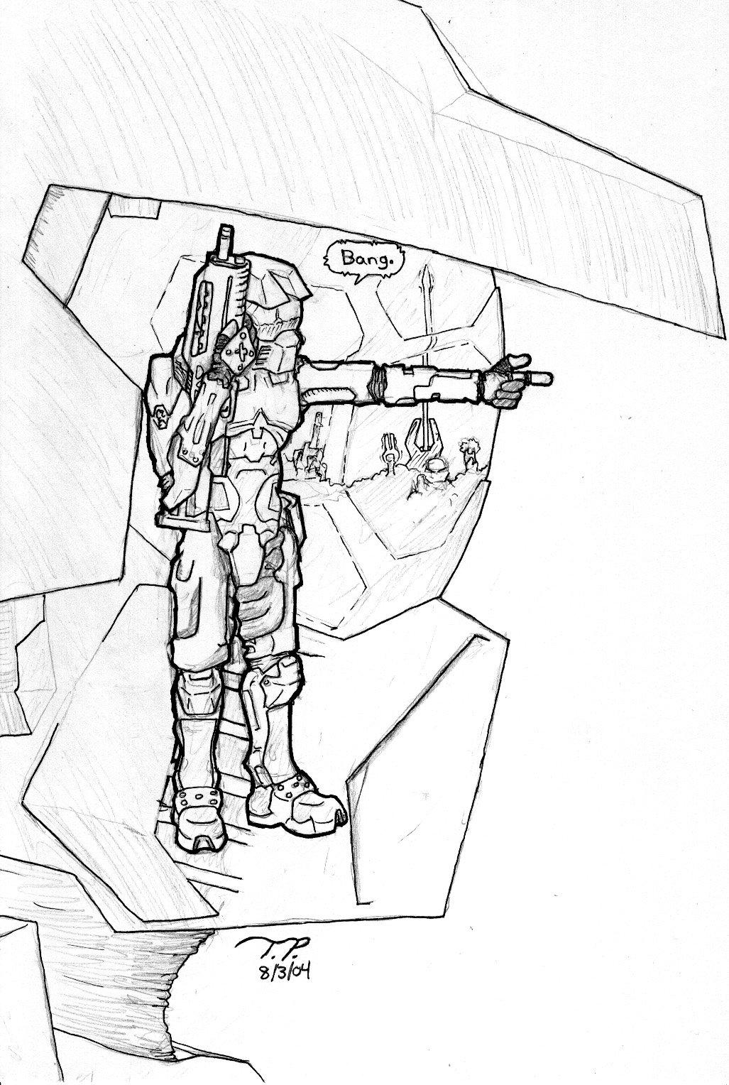 1027x1528 Halo 2 Master Chief By Nogohoho