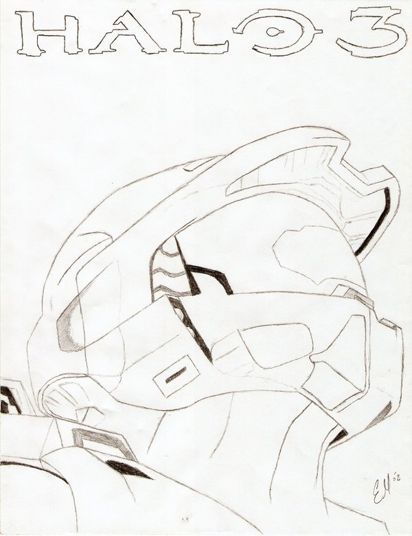600x780 Halo 3 Master Chief By Wolf8891