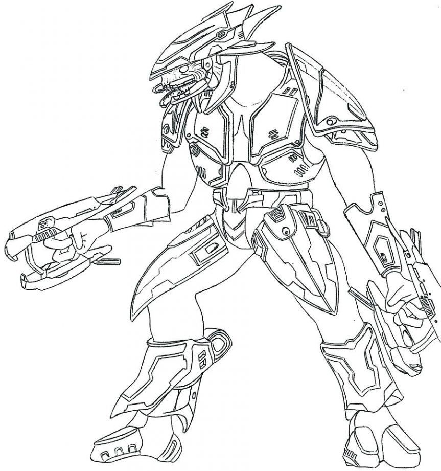 863x921 Halo 4 Gun Coloring Pages 3 To Print Free Master Chief Printable 5