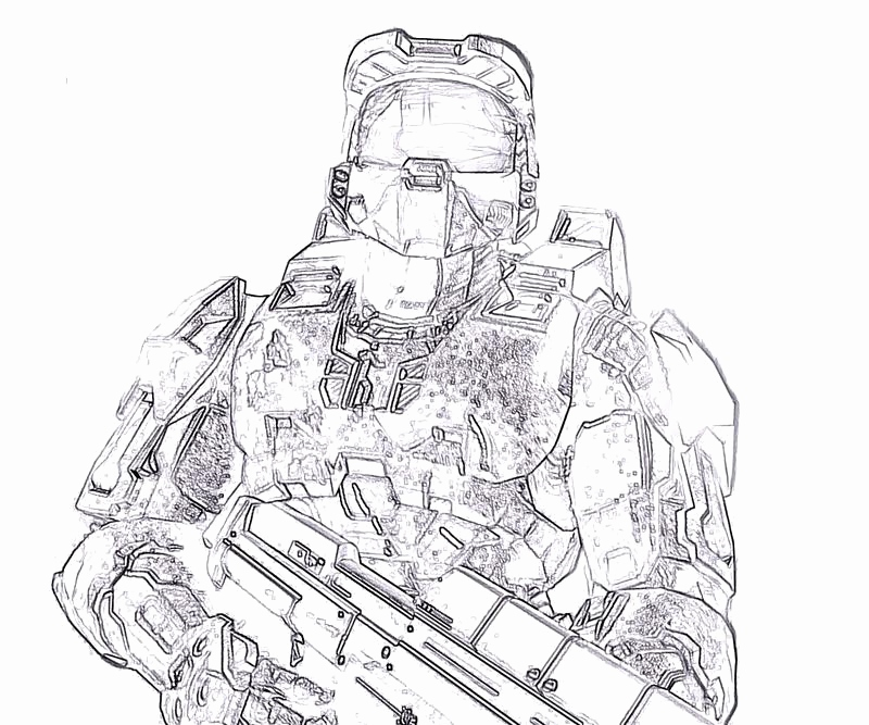 800x667 Cute Halo Coloring Pages Master Chief Gallery