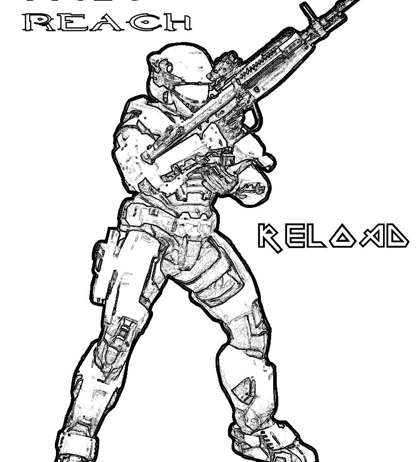 816x900 Free Coloring Pages Of Gee From Halo Spartan Printable Adult 4