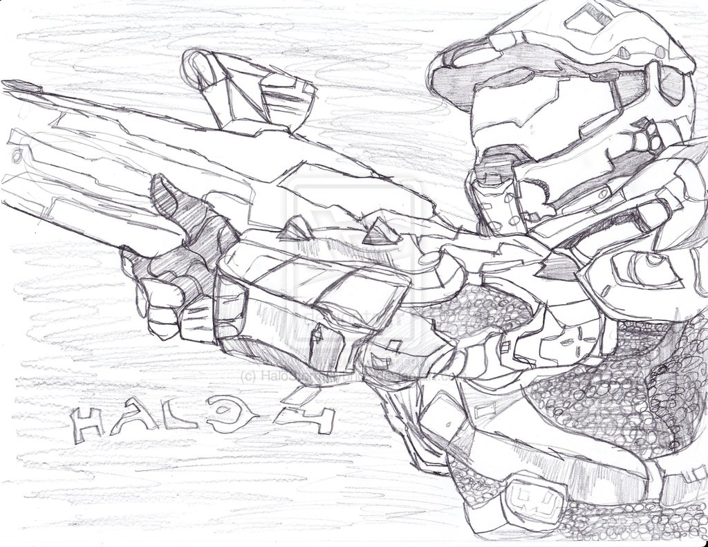 1024x791 Halo 4 Master Chief Drawings