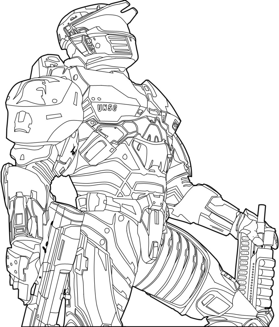 900x1056 37 Halo Reach Chief Helmet At Coloring Pages Book For Kids Boys