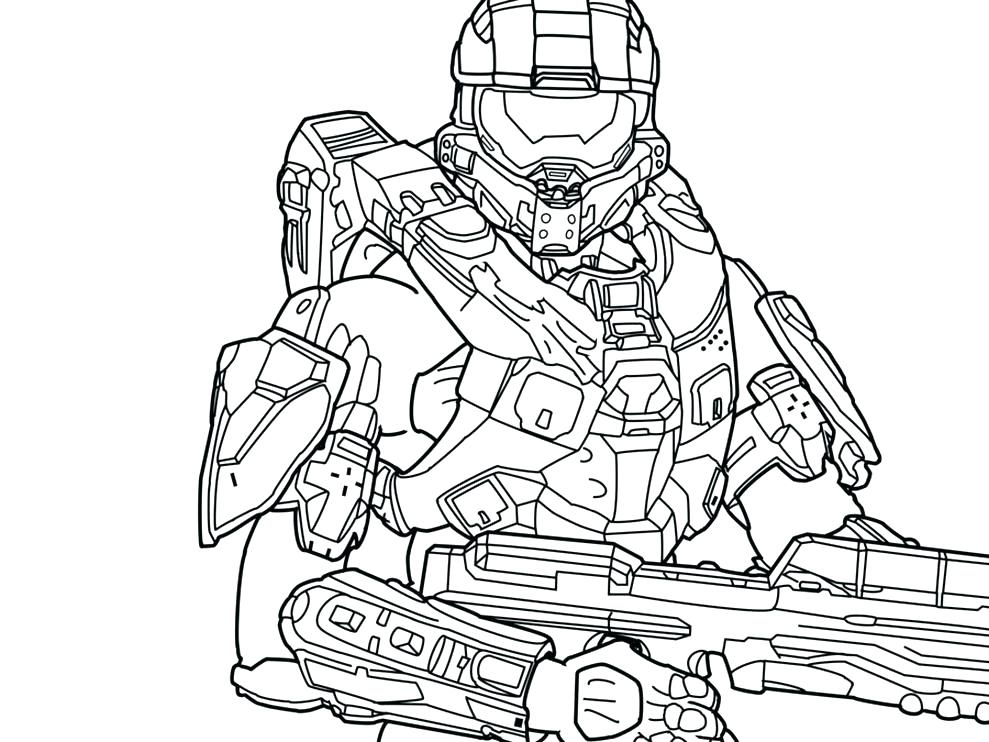 989x742 Halo Master Chief Coloring Pages Master Chief Coloring Pages