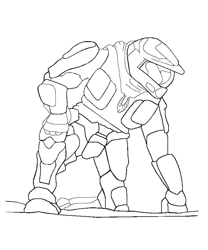 724x868 Halo Reach Noble Team Coloring Pages Best Cool