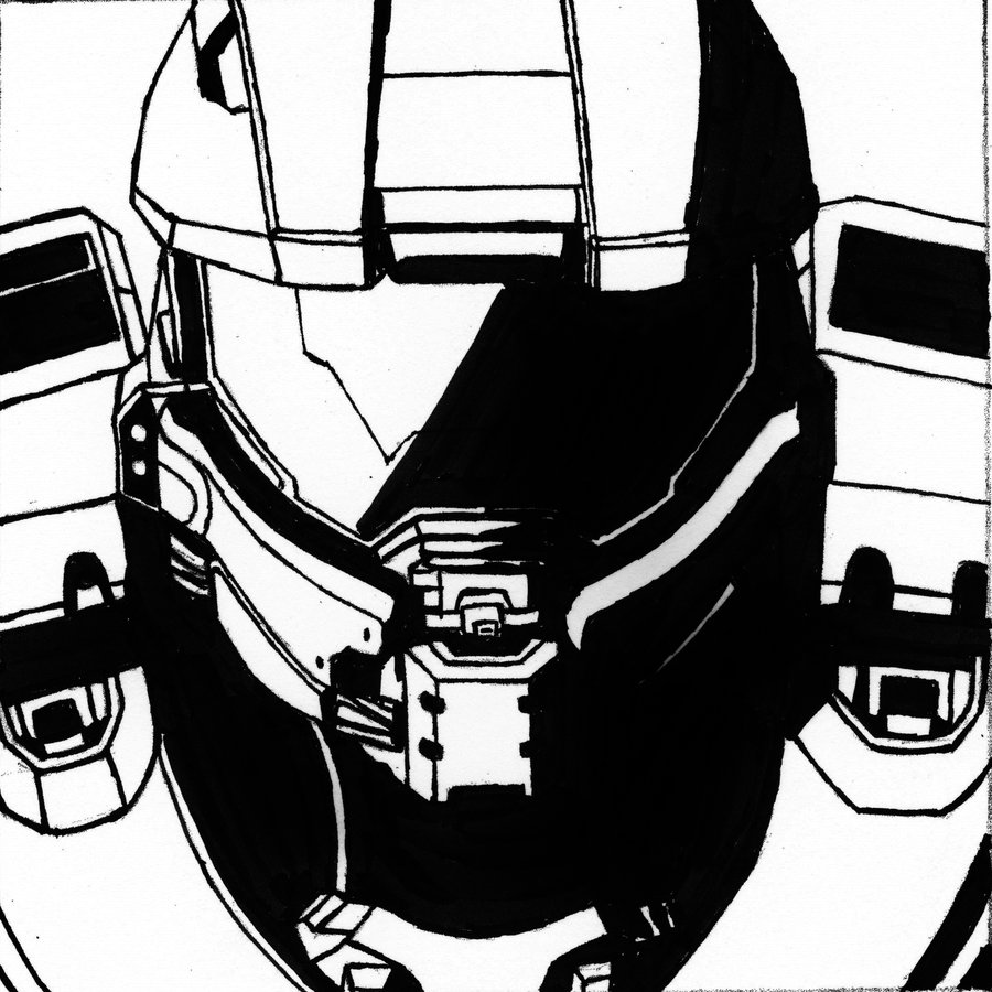 900x900 Master Chief (Vector Shadow 2) By Sacrafire