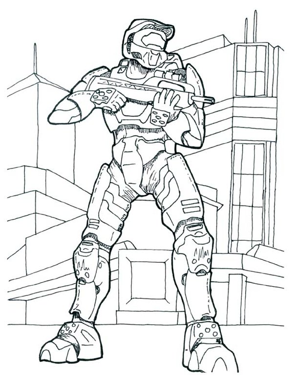600x776 Master Chief Coloring Pages