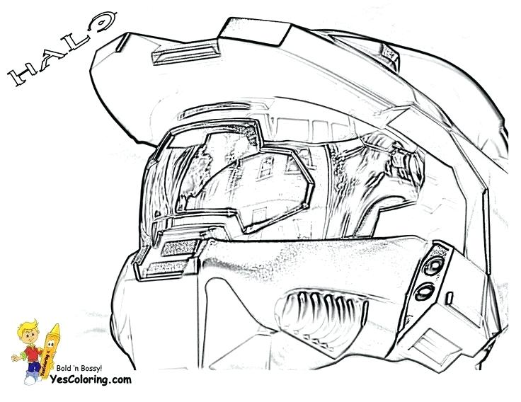 736x568 Best Master Chief Coloring Pages