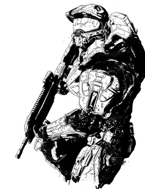 500x650 Master Chief Drawings Tumblr