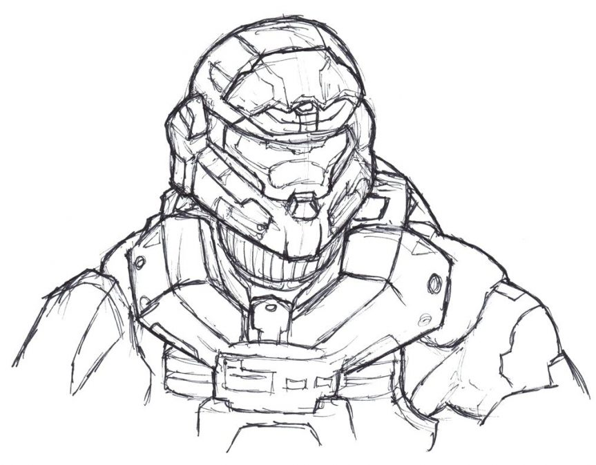 863x673 Spartan Soldiers Coloring Sheet. Halo Reach Spartan Coloring Pages