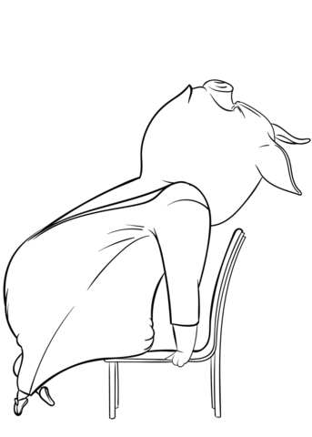 343x480 Gunter The Ham From Sing Coloring Page Free Printable Coloring Pages
