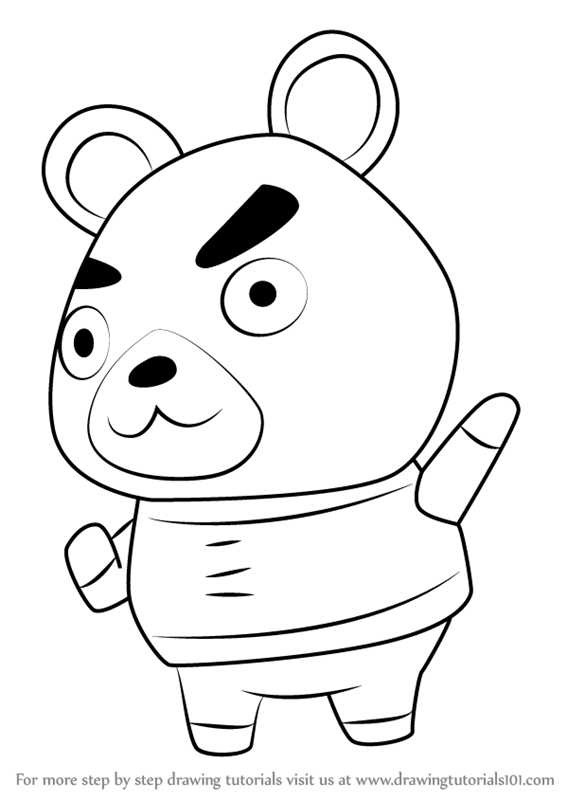 566x800 Learn How To Draw Hamphrey From Animal Crossing (Animal Crossing