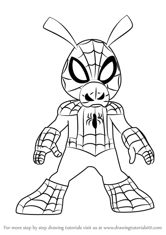 566x800 Learn How To Draw Spider Ham From Ultimate Spider Man (Ultimate