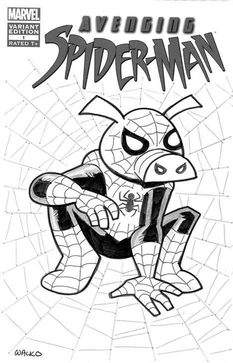 467x727 The Avenging Spider Ham By Billwalko