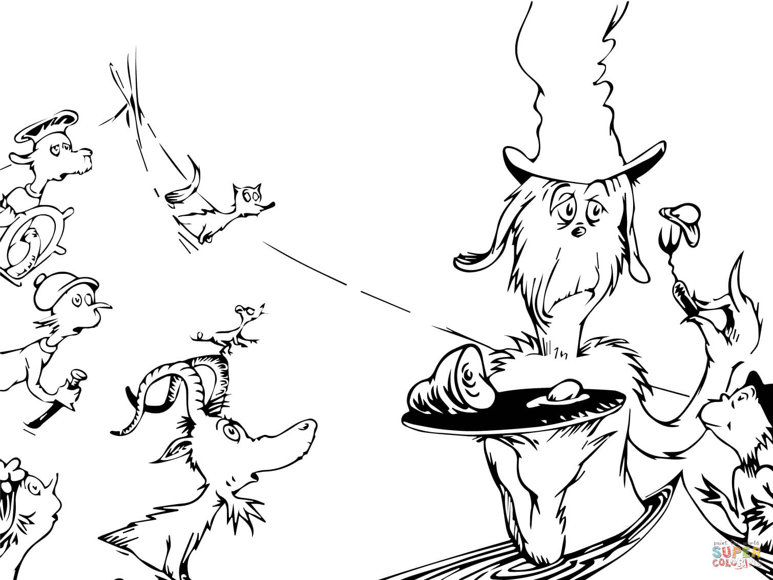 1509x1131 Dr Seuss Coloring Pages Green Eggs And Ham To Cure Draw Paint