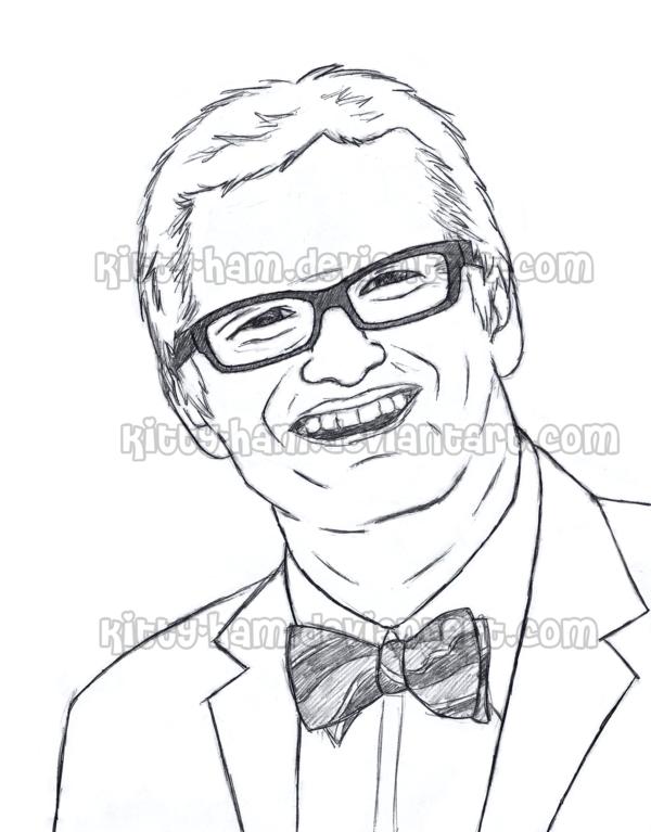 600x767 Drew Carey Sketch By Kitty Ham