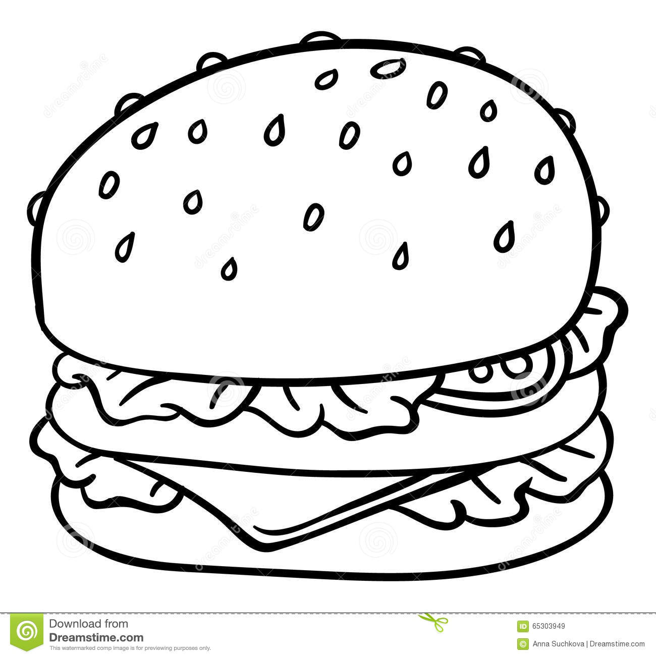 1300x1304 Drawing Of A Cheeseburger How To Draw A Cartoon Hamburger