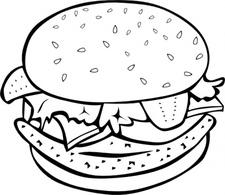 225x195 Hamburger Cliparts Draw 219272
