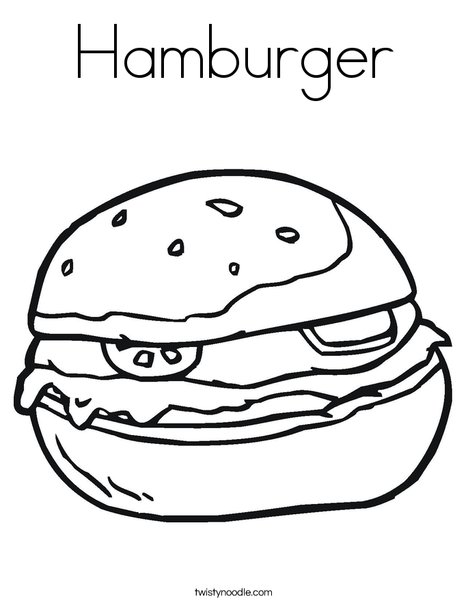 468x605 Hamburger Coloring Page
