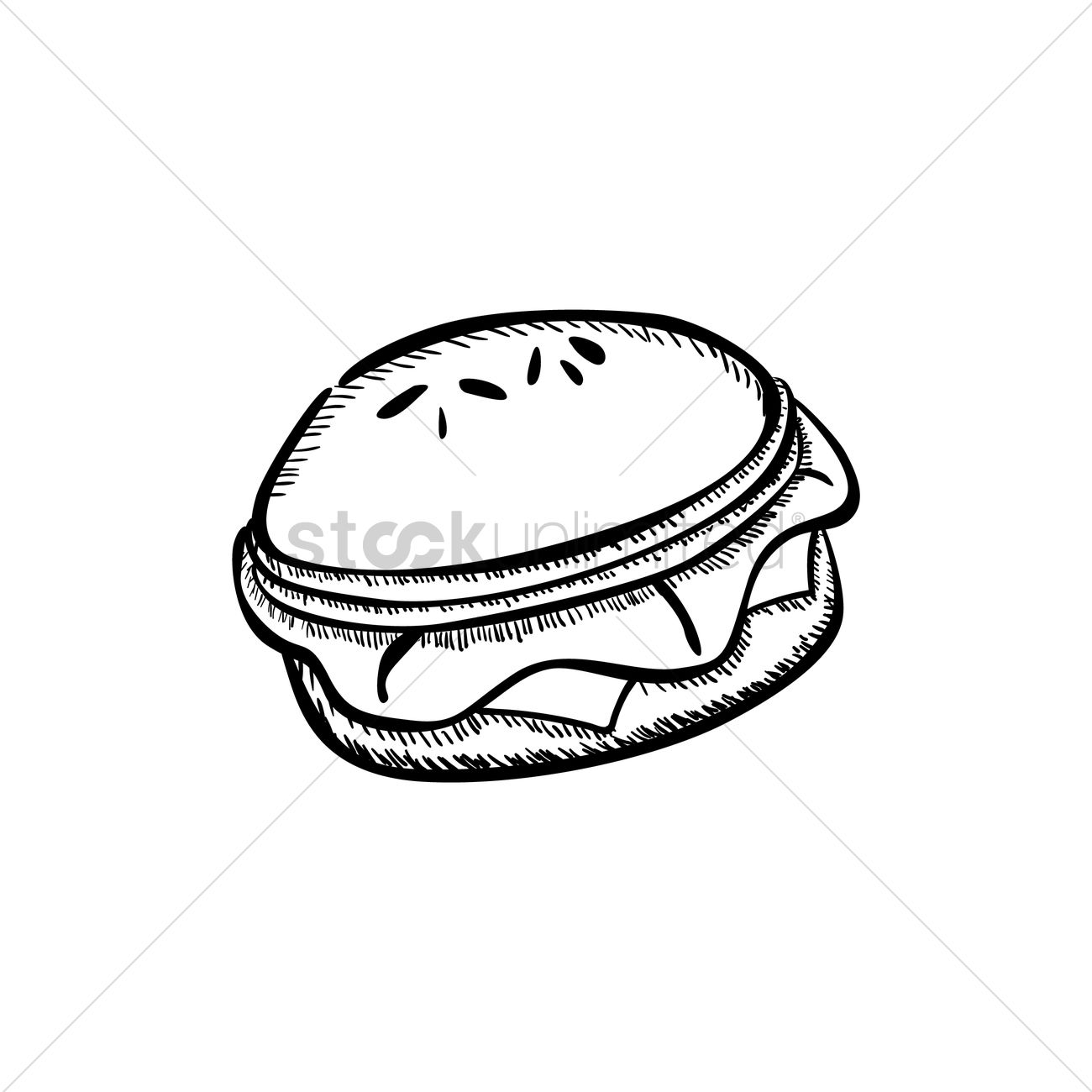 1300x1300 Hamburger Vector Image