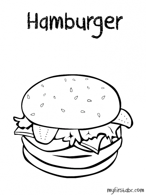 487x650 Hamburger Coloring Pages 3 Nice Coloring Pages For Kids