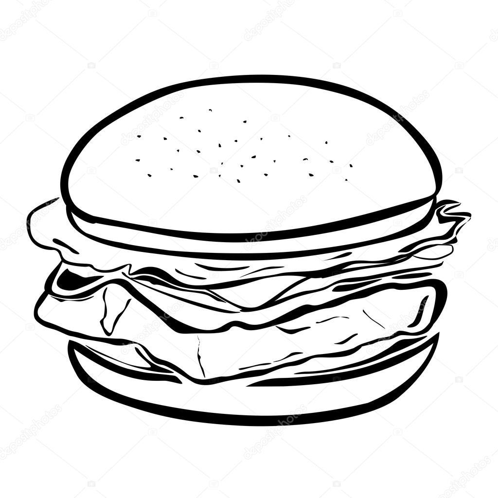 1024x1024 Hamburger Stock Vector Fxm73