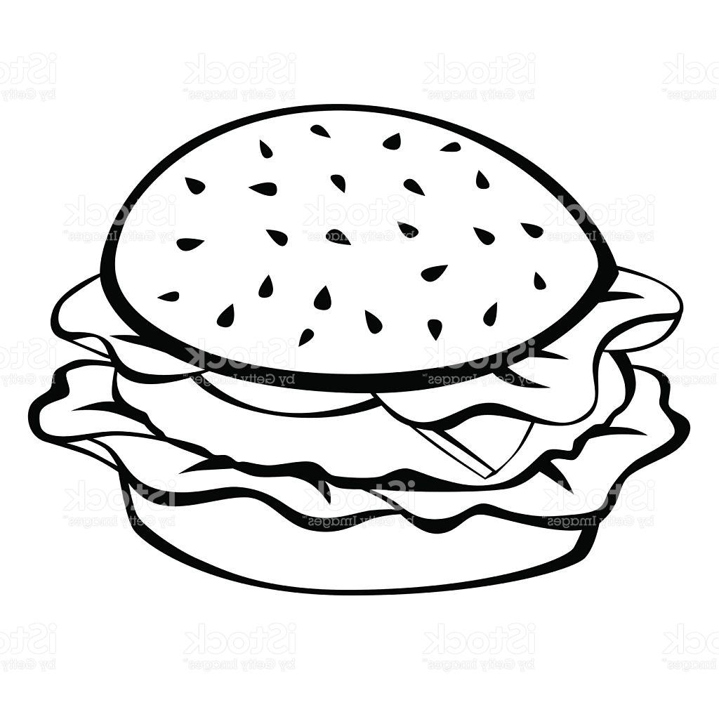 1024x1024 Top 10 Black White Hamburger Food Isolated Illustration Vector Cdr