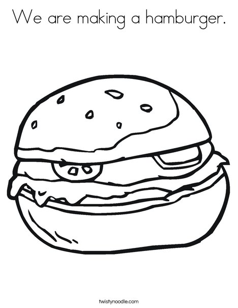468x605 We Are Making A Hamburger Coloring Page